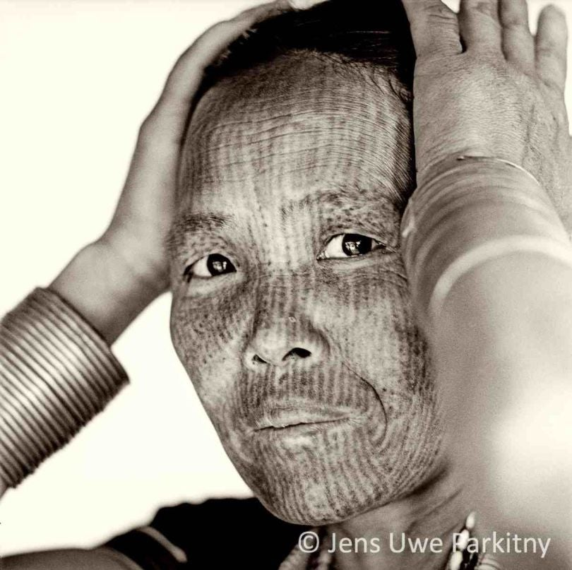 BW Chin Woman 10 Parkitny watermarked