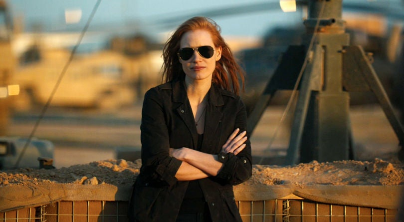Jessica Chastain dans Zero Dark Thirty de Kathryn Bigelow.